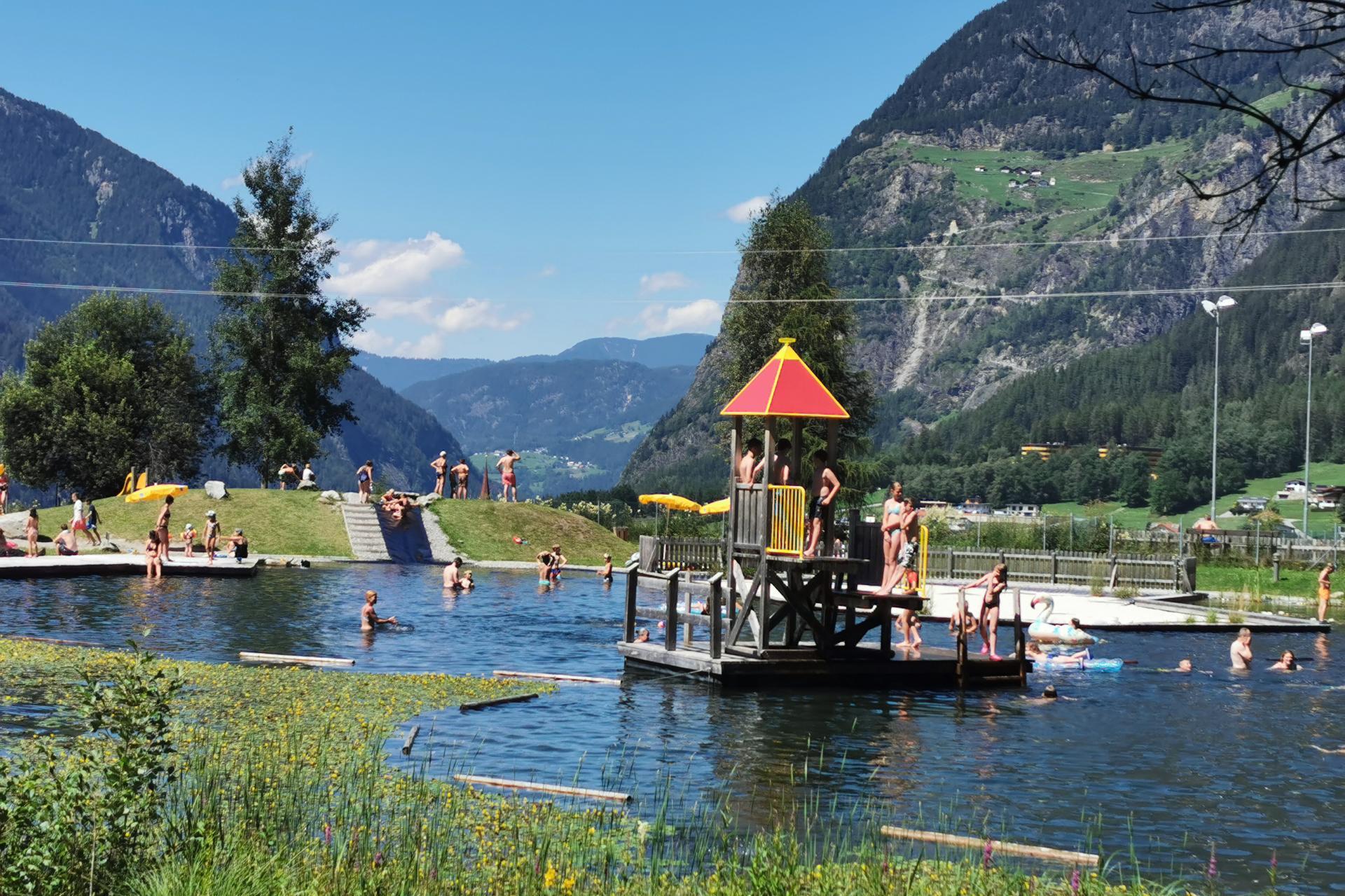 Schwimmbäder und Seen im Ötztal